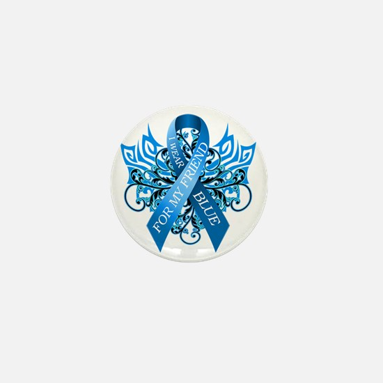 I Wear Blue for my Friend Mini Button