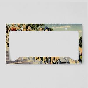 Retro Summer Beauties License Plate Holder