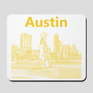 Austin_12x12_StevieRayVaughan_Yellow Mousepad