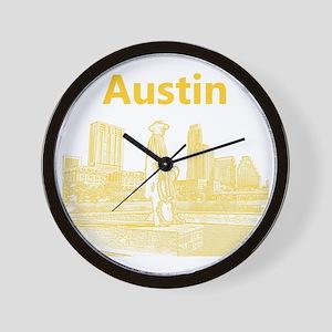 Austin_12x12_StevieRayVaughan_Yellow Wall Clock