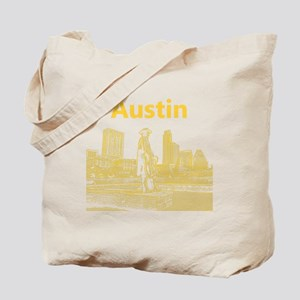 Austin_12x12_StevieRayVaughan_Yellow Tote Bag
