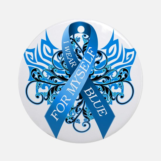 I Wear Blue for Myself Round Ornament