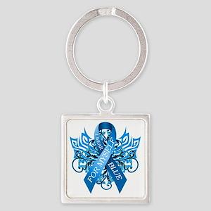 I Wear Blue for Myself Square Keychain