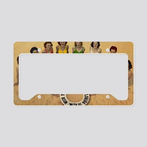 Retro Beach Beauties License Plate Holder