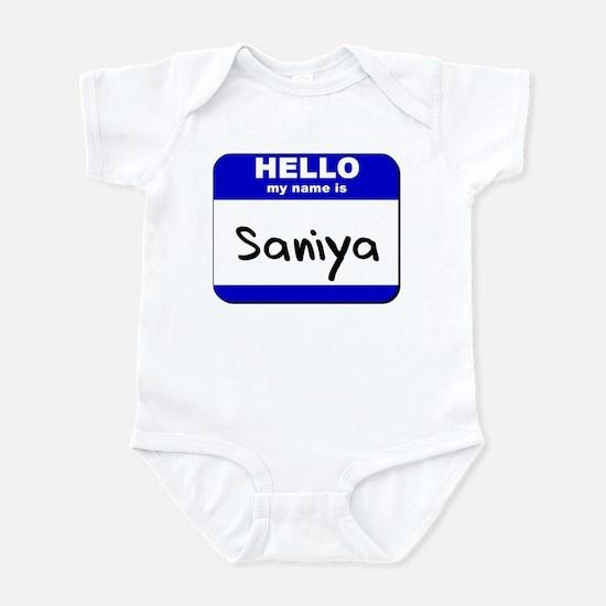 hello my name is saniya  Infant Bodysuit