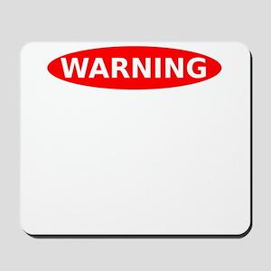May Contain Scotch Warning Mousepad