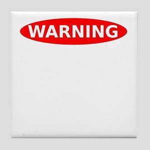May Contain Scotch Warning Tile Coaster