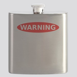 May Contain Scotch Warning Flask