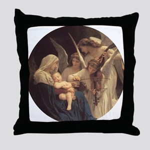 Song of the Angels Nativity Throw Pillow