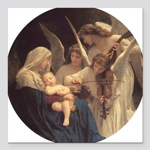 """Song of the Angels Nativ Square Car Magnet 3"""" x 3"""""""