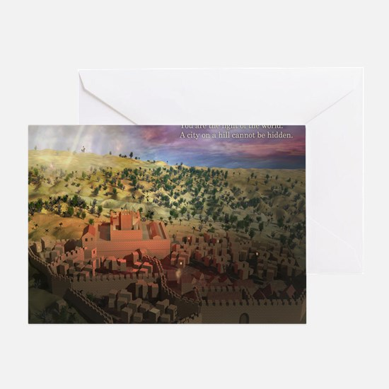 City on a Hill, Image Two Greeting Card