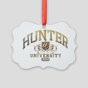 Hunter Last name University Class Picture Ornament