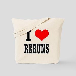 I Heart (Love) Reruns Tote Bag