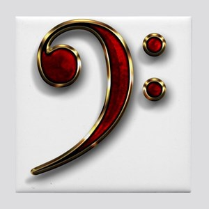 Bass Clef Tile Coaster