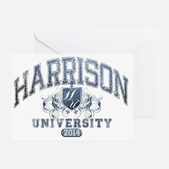 Harrison Last name University Class  Greeting Card