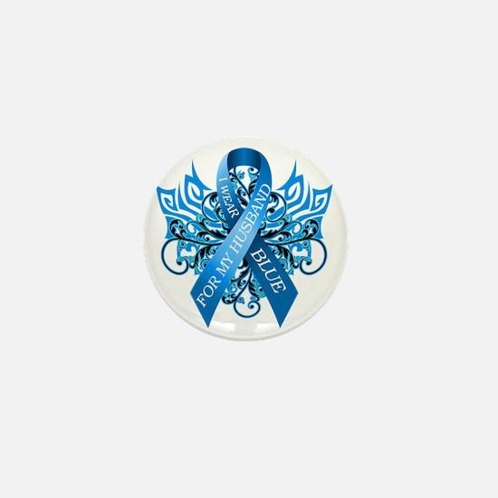 I Wear Blue for my Husband Mini Button
