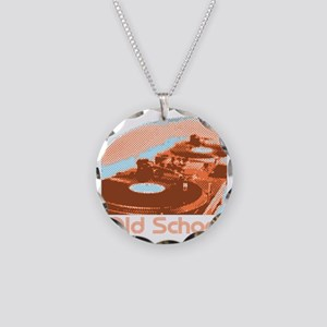 Wheels of Steel Necklace Circle Charm