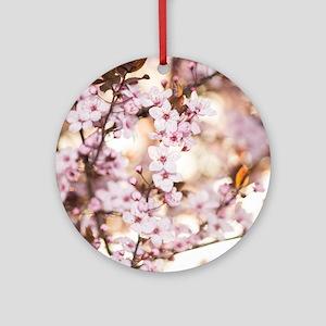 Soft Blossoms Round Ornament