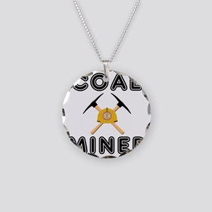 Coal miner Necklace Circle Charm