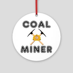 Coal miner Round Ornament