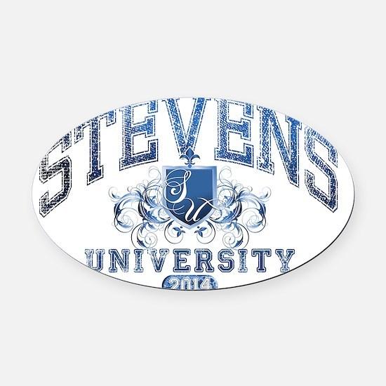 Stevens Last name University Class Oval Car Magnet