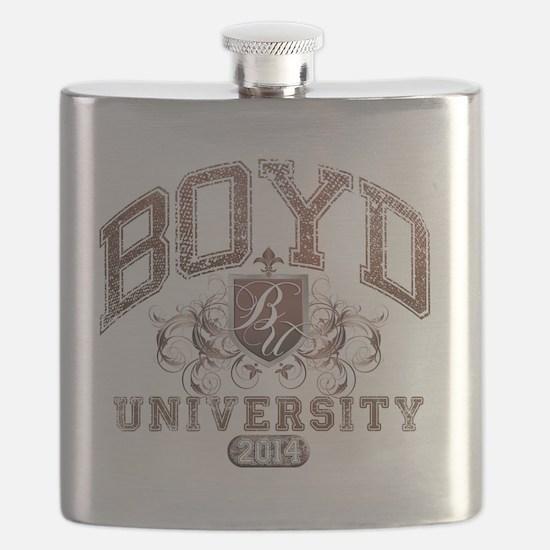 Boyd Last name University Class of 2014 Flask