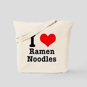 I Heart (Love) Ramen Noodles Tote Bag