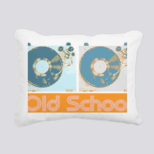 Old Shcool Turntables Rectangular Canvas Pillow