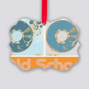 Old Shcool Turntables Picture Ornament
