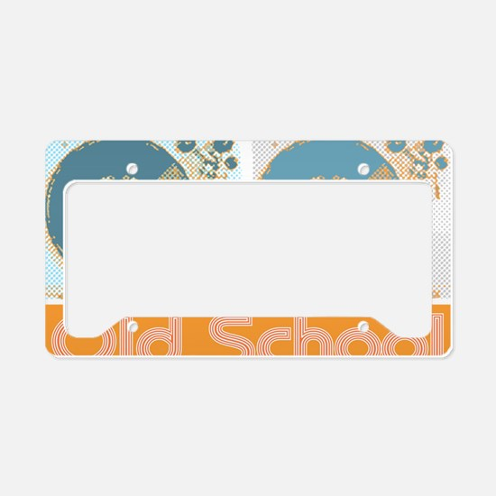 Old Shcool Turntables License Plate Holder