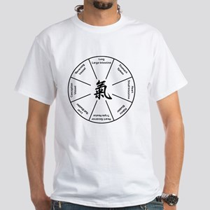 Qi Gong Basic Eight T-Shirt White T-Shirt