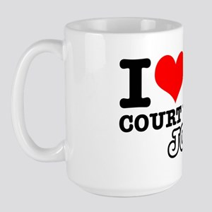 I love my court clerk job Large Mug