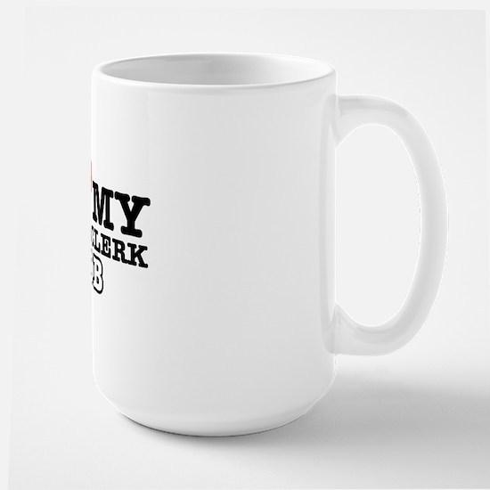 I love my court clerk job Large Mug