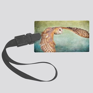 Barn Owl Large Luggage Tag