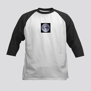 Jupiter w/moons / Earthrise - Kids Baseball Jersey