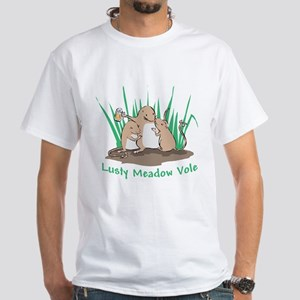Lusty Meadow Vole White T-Shirt