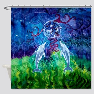 Dolphin Gaze 69X70 Sheer Shower Curtain