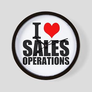 I Love Sales Operations Wall Clock