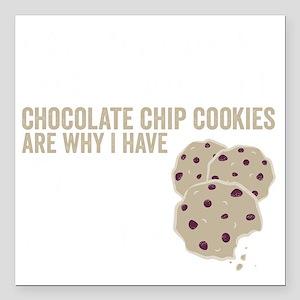 "Cookies Square Car Magnet 3"" x 3"""
