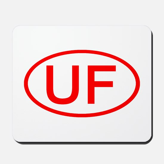 UF Oval (Red) Mousepad
