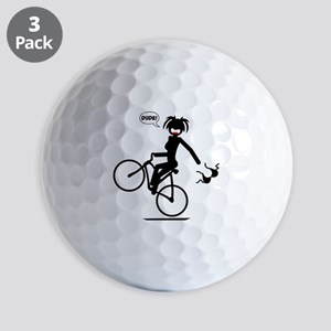 BIKE MALFUNCTIONS black image Golf Balls