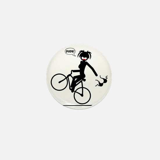BIKE MALFUNCTIONS black image Mini Button