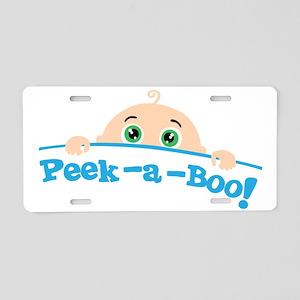 Peek a Boo Aluminum License Plate