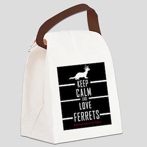 Keep Calm & Love Ferrets Canvas Lunch Bag