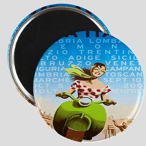 Vintage Viva Italia Poster Magnet