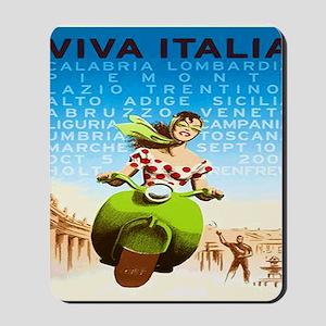 Vintage Viva Italia Poster Mousepad