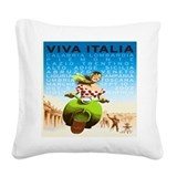 Italia Square Canvas Pillows