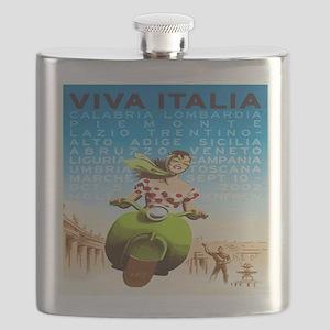 Vintage Viva Italia Poster Flask