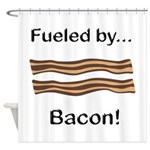 Fueled by Bacon Shower Curtain