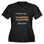 Fueled by Ba Women's Plus Size V-Neck Dark T-Shirt